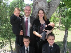 Photo of L. Michael Morales and family